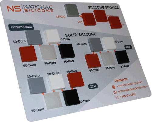 Silicone Sheet Rubber Sample Board | National Silicone