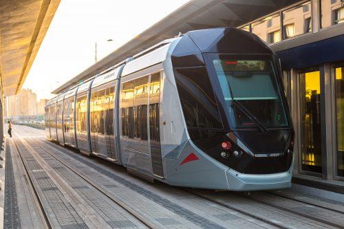 rail industry new modern tram
